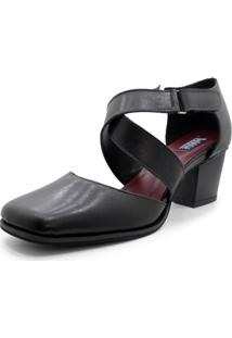 Sapato Boneca Retrô Universo Bubblē Com Velcro - Bico Quadrado - Calcado Feminino Comfort