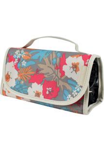 Necessaire Rocambole Estampada Jacki Design Miss Douce Bege Floral - Kanui