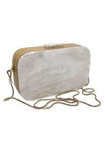 Bolsa Clutch Retangular White
