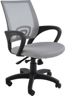 Cadeira Office Santiago Cinza Base Rodizio Rivatti Móveis