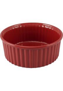 Forma Para Suflê 1.5 Litros 20Cm Vermelha Mondoceram Gourmet