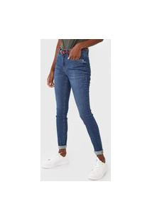Calça Jeans Malwee Skinny Flex Azul