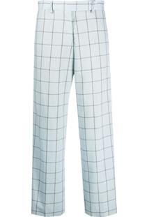 Paul Smith Calça Pantalona Xadrez - Azul