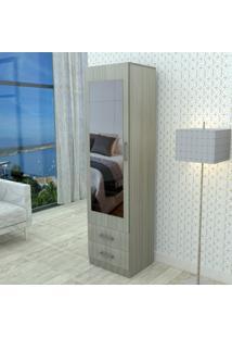 Armário Com Espelho E 2 Gavetas London Appunto - Grigio - Multistock