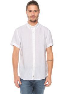 Camisa Linho Timberland Slim Rattle Off White