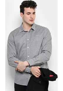 Camisa Colcci Slim Fit Listras Masculina - Masculino