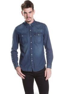Camisa Levis Classic Western - Masculino-Azul