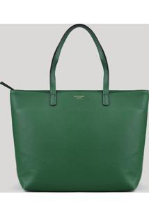 Bolsa Shopper Feminina Com Alça Fixa Verde - Único