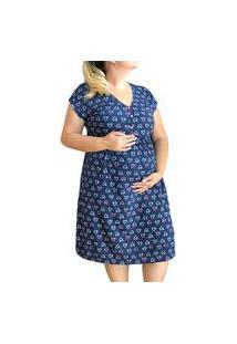 Camisola Plus Size Amamentação E Pós Parto Corações Linda Gestante