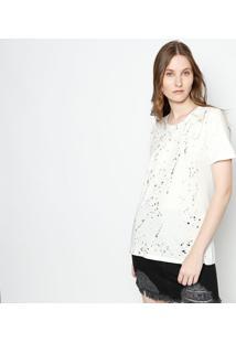 Camiseta Destroyed - Off White & Douradacanal