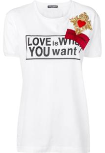 Dolce & Gabbana Camiseta Love Is What You Want - Branco