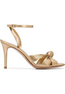 Gianvito Rossi Sandália Com Detalhe De Nó - Dourado