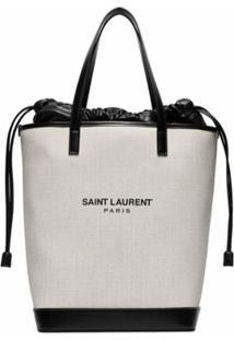 Saint Laurent Bolsa Tote 'Teddy' - Neutro