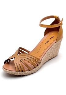 Sandália Dr Shoes Anabela Amarelo