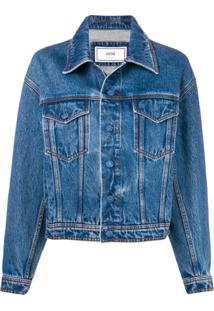 Ami Paris Jaqueta Jeans - Azul