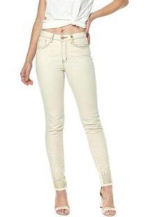 Calça Jeans Cigarrete Osmoze Mid Rise Skinny 206124130 Branco 50 - Feminino