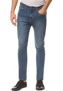 Calça Jeans Dieve Pockets Ckj 025 Slim Straight - Azul Médio - 48
