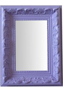 Espelho Moldura Rococó Raso 16239 Lilás Art Shop