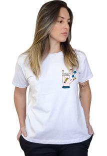 Camiseta Boutique Judith Love Rock Branco