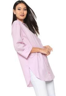Camisa Forum Reta Bolso Rosa
