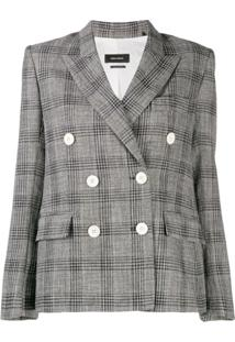 Isabel Marant Prince Of Wales Check Jacket - Preto