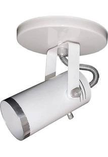 Spot De Sobrepor Em Alumínio Para 1 Lâmpada Branco