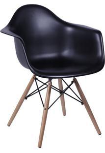 Poltrona Eames Dar- Preta & Bege- 82X62X44Cm- Oror Design