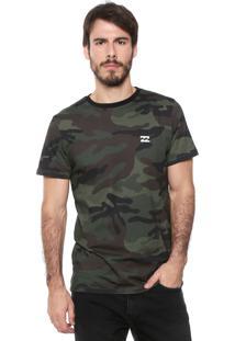 Camiseta Billabong Camo Verde