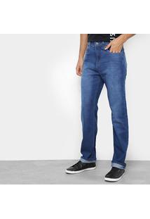 Calça Jeans Reta Calvin Klein Five Pockets Relaxed Masculina - Masculino