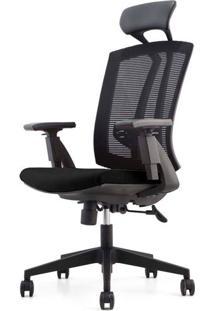 Cadeira Office Presidente Mko-022 Preta Com Rodizios - 35714 - Sun House
