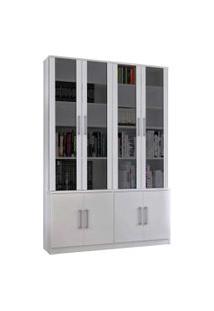 Estante De Livros 8 Portas Branco M Foscarini