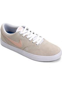 Tênis Nike Sb Check Solar Feminino - Feminino-Bege+Coral