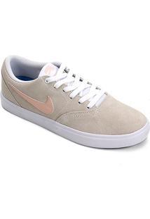 Tênis Nike Wmns Sb Check Solar Feminino - Feminino-Bege+Coral