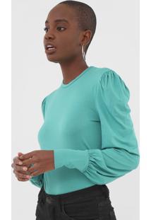 Blusa Colcci Drapeado Verde - Verde - Feminino - Viscose - Dafiti