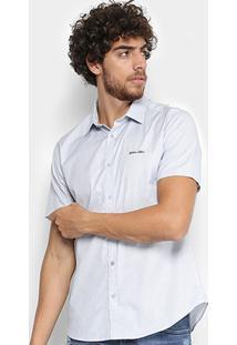 Camisa Manga Curta Calvin Klein Slim Monte Carlo Vista Masculina - Masculino