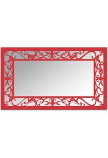 Espelho De Parede 12876V Vermelho 70X110 Art Shop