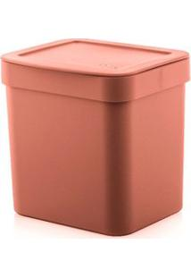 Lixeira 2,5L Plástico Terracota Trium Ou