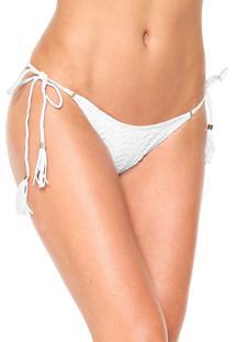 Calcinha String Lili Sampedro Amarração Branca