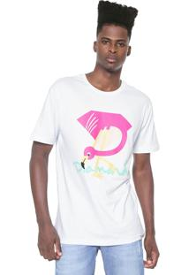 Camiseta Diamond Supply Co Flamingo Branca