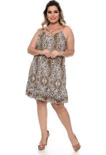 Vestido Leopardo Plus Size