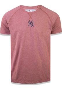 Camiseta New Era Raglan New York Yankees Mescla Vinho