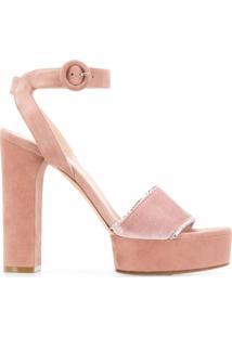 Casadei Sandália Com Plataforma - Rosa