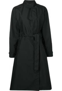 Fay Trench Coat Com Cinto - Preto
