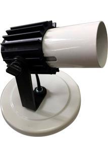 Spot Com Aleta Para 1 Lâmpada Branco