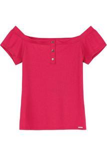 Blusa Vermelho Ciganinha Canelada