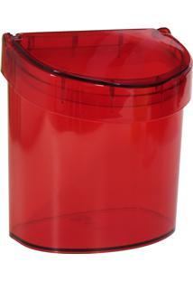 """Lixeira 2,7L Com Borda Para Esconder Saco De Lixo """" Ideal Para Pia."""