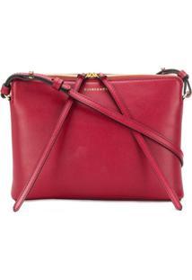 Cuero&Mør Bolsa Transversal Zipper - Vermelho