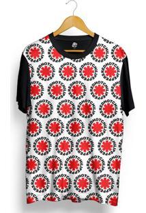 Camiseta Bsc Red Hot Chili Peppers Full Print - Masculino