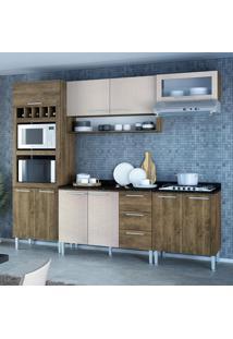 Cozinha Compacta 10 Portas Stella 0420T Demolição/Mel 3D - Genialflex