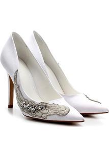 Scarpin Shoestock Salto Alto Noiva - Feminino-Branco